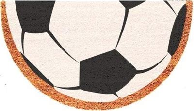 Sports Doormats - soccer half moon custom handpainted sports welcome