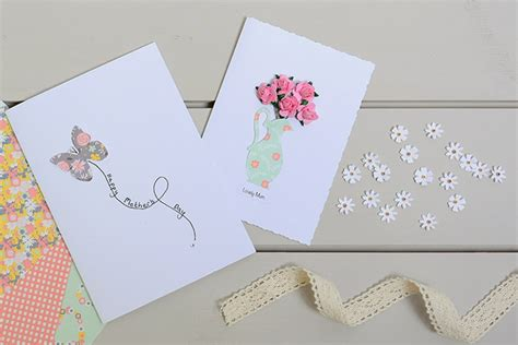 Papercraft Card Ideas - how to make a roses jug s day card hobbycraft