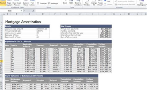 mortgage calculator template mortgage calculator amortization excel bi