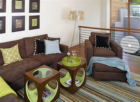 Brown And Lime Green Living Room Ideas by Chocolate Brown And Lime Home Decor