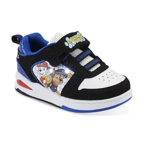 boys light up sneakers nickelodeon boy s paw patrol black white blue