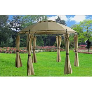 round gazebo with curtains delta canopy gazebo 115115 deluxe steel frame round gazebo