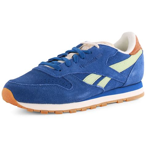 reebok shoes reebok classic leather womens suede royal blue trainers