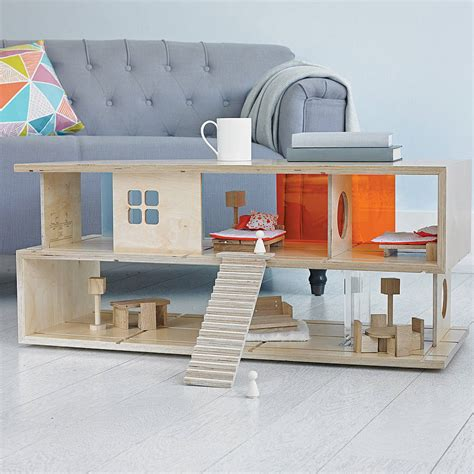 dual purpose coffee table dual purpose s coffee table and doll s house by qubis