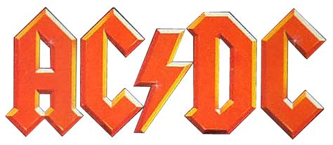 AC/DC logos and lettering | What's That Font? Ac Dc Logo Images