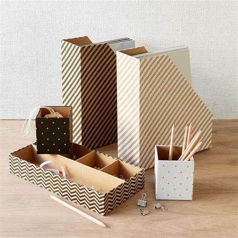 Modern Desk Supplies Kraft Office Collection Contemporary Desk Accessories By West Elm