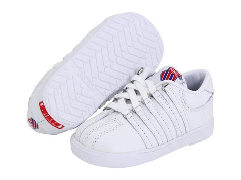 k swiss athletic shoes k swiss classic leather tennis shoe infant