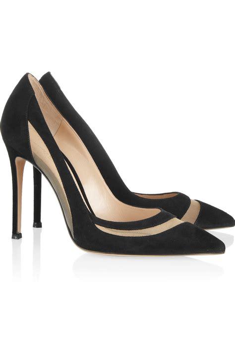 Heels Suede Black 2 lyst gianvito mesh paneled suede pumps in black