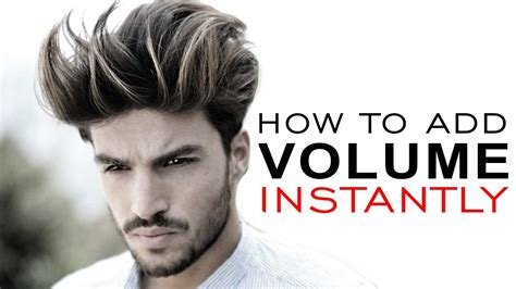 how to do guys hairstyles how to add volume to your hair men s hairstyle tutorial