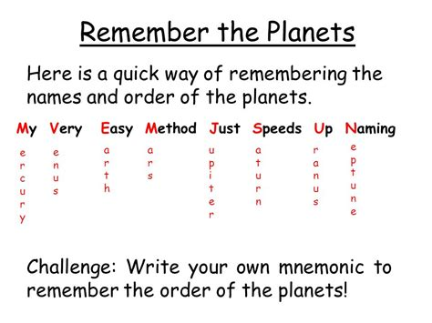 Easy Ways To Remember The Name Of The You Just Met the solar system recall the names of the planets describe