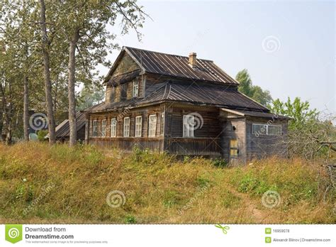 old wooden house in russian village stock photo colourbox old wooden house in village stock photo image of