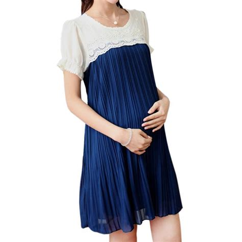 Maternity Pleated Chiffon Dress plus size casual maternity dress chiffon pleated maternity