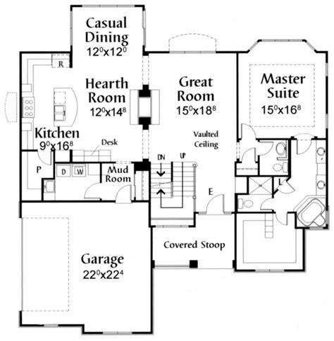2 story great room floor plans cottage house 38 186 watkins home builders