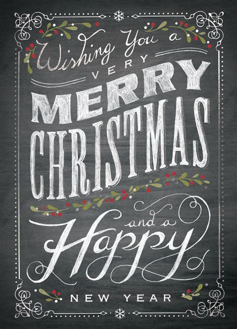 chalkboard merry christmas celebrate the season from