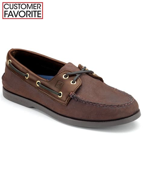 sperry top sider ao buck brown sperry top sider s authentic original a o boat shoes