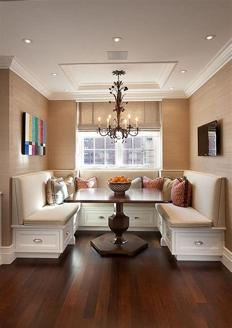 Design Ideas For Banquette Table 25 Space Savvy Banquettes With Built In Storage Underneath
