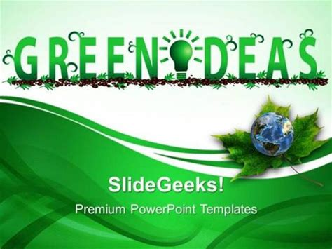 powerpoint template environment information technology green ideas environment ppt