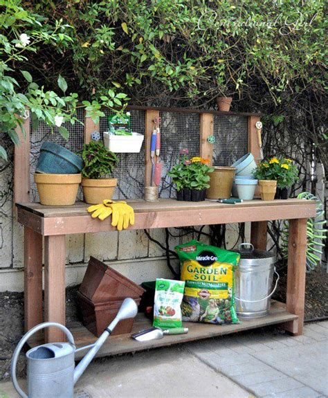 diy garden table 25 cool diy garden potting table ideas potting tables