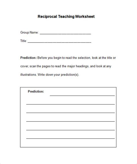 Worksheet Templates For Teachers 8 worksheet templates for free word pdf