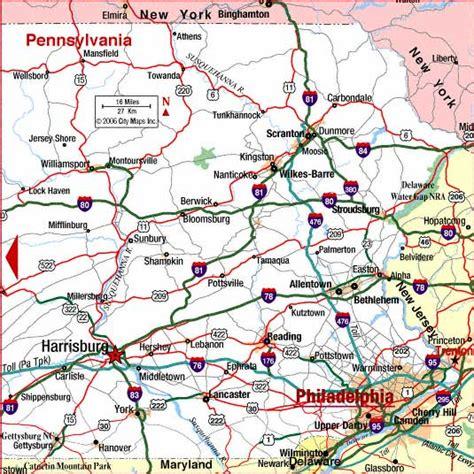 printable pa road map road map of eastern pennsylvania harrisburg pennsylvania