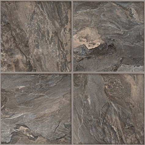 shop armstrong flooring terraza grand 1 piece slate gray peel and stick stone vinyl tile at