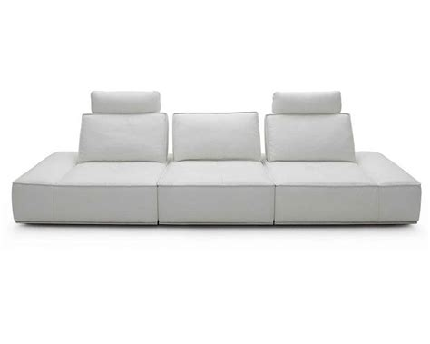 white italian leather sofa contemporary white finish italian leather sofa 44l6067