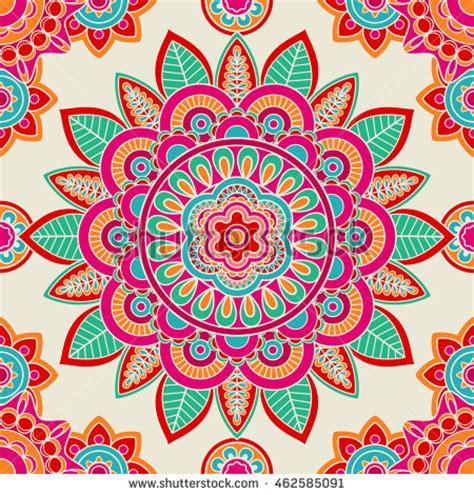 hippie vector pattern ethnic boho doodle floral mandala vector stock vector