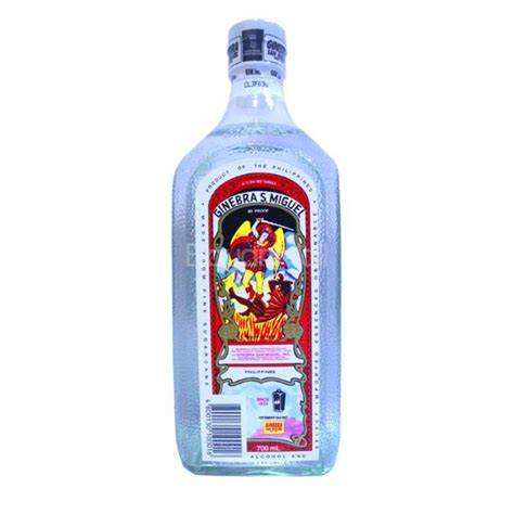 San Miguel Home Decor by Ginebra San Miguel 80 Proof 700ml In A Bottle