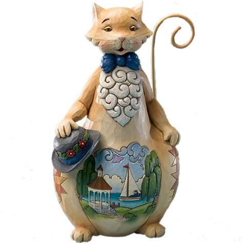 jim shore summer scene cat figurine 4016463 ebay