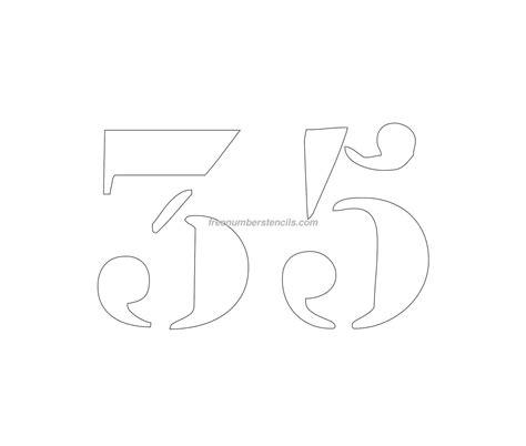 printable curb number stencils free curb painting 35 number stencil freenumberstencils com