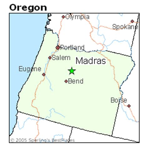 map of oregon madras best places to live in madras oregon