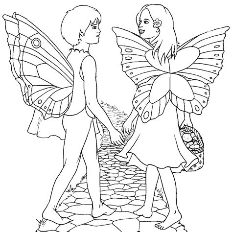 coloring pages of boy fairies fairy coloring pages
