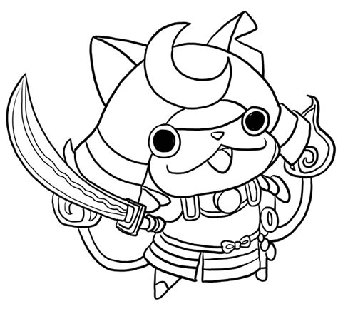 yo kai watch coloring page shogunyan from yo kai watch coloring pages