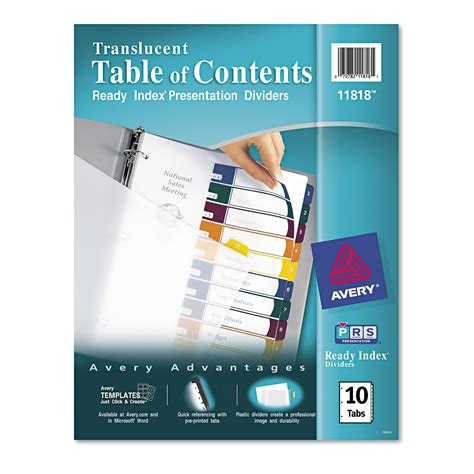 Avery Ready Index Template 10 Tab Color The Hakkinen Avery 10 Tab Color Template