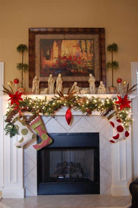 adorable christmas mantel decorating ideas