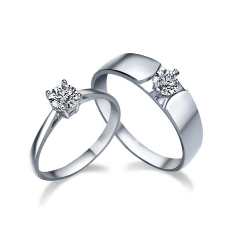 his and matching cz wedding ring bands for couples