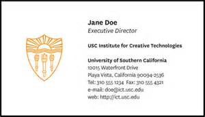 usc business card letterhead business cards