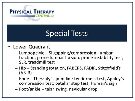 talar swing test scan exam