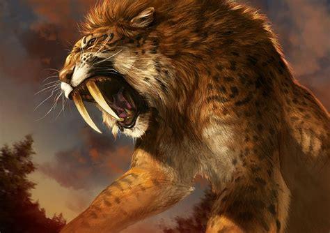 monsta x animal catamancer sabertooth by tamberella tiger lion monster