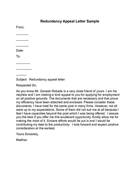 Exle Evaluation Appeal Letter Appeal Letter Templates 10 Free Templates In Pdf Word Excel