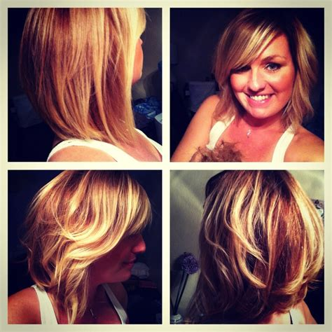 pictures of diangle bob with ombre color blonde ombr 233 long bob hair pinterest bobs long bobs