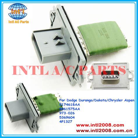 heater fan resistor on dodge dakota 5174618aa 5061575aa 973 026 5369604 4p1327 heater blower motor regulator resistor for dodge