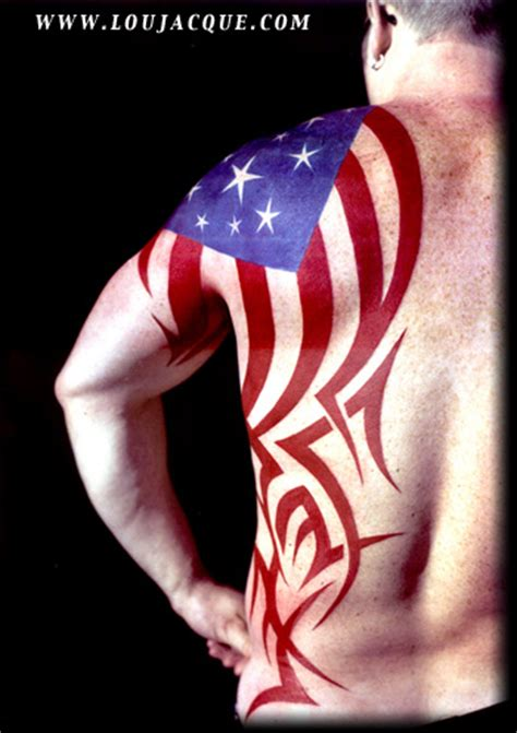 american flag tribal tattoos patriotic tattoos