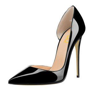 Heels Pedro Import black office heels patent leather pointy toe stiletto heels pumps