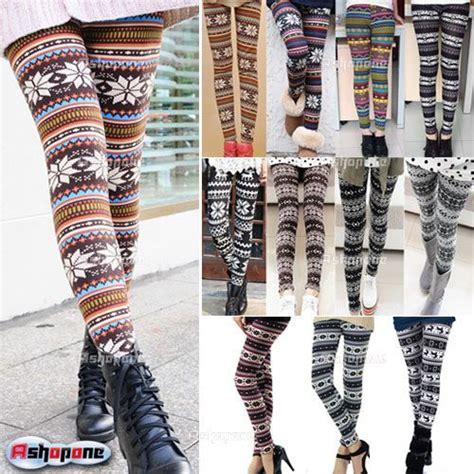different pattern leggings new women s nordique cerfs tricot 233 leggings pantalon