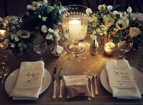reception decor once wed elegant table settings gold new orleans black tie wedding once wed