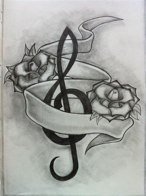 i love music tattoo designs drawings www imgkid the image