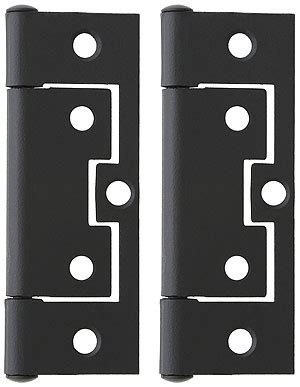 """Pair of 3"""" Non Mortise Cabinet Hinges in Flat Black"""
