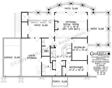 cottage homes floor plans walkers cottage house plan country farmhouse southern