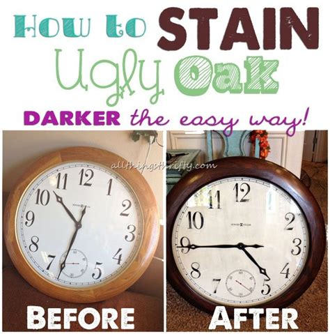 Restaining Kitchen Cabinets Darker by How To Stain Ugly Oak Wood Darker Easily All Things
